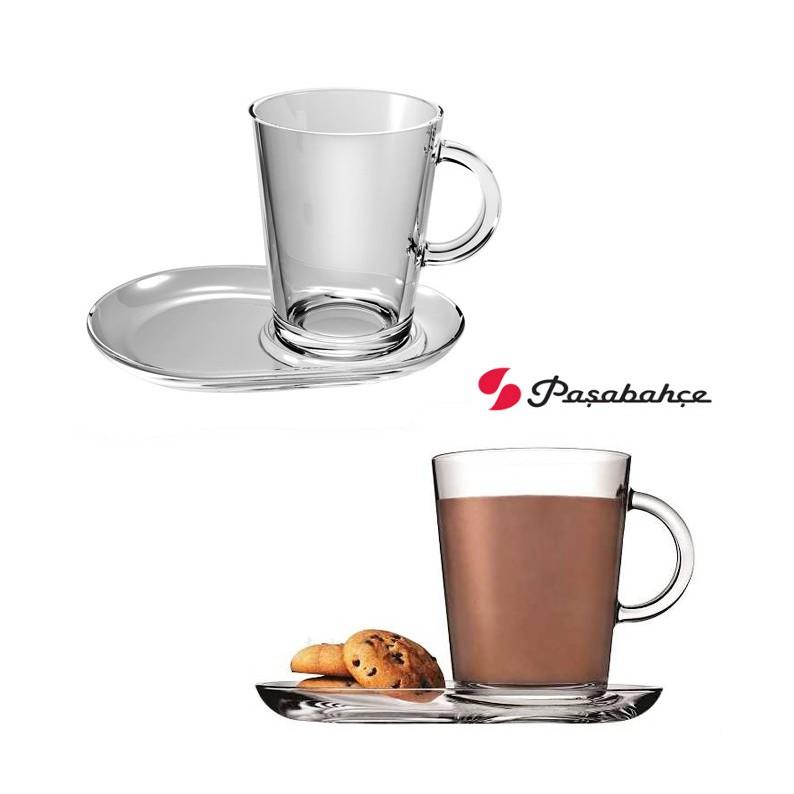 Set 2 tazze in vetro per cappuccino Tribeca Pasabache