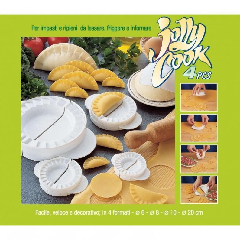 Tagliaravioli Tagliapasta Jolly Cook kit 4 pz per ravioli e panzerotti e dolci r