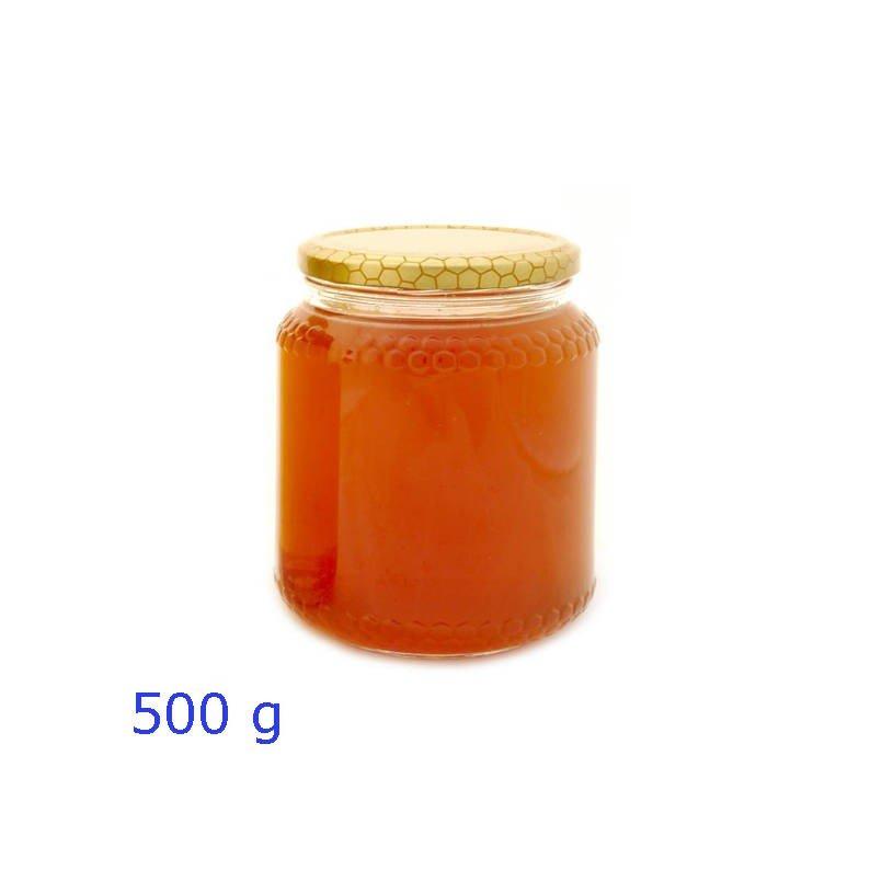 Vaso vetro da miele con capsula alveare formato 390 cc - 500 gr