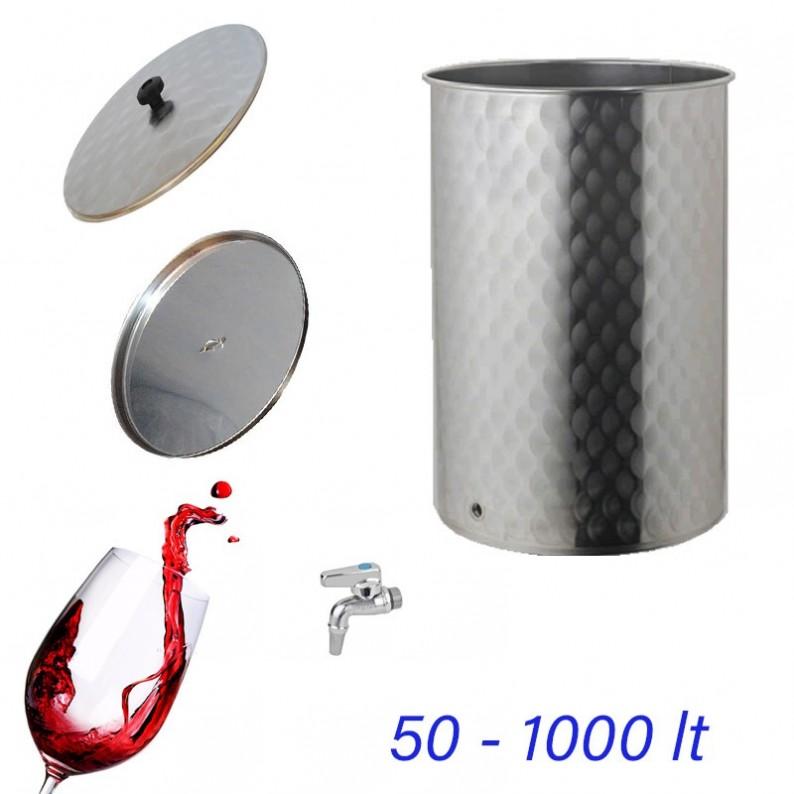 serbatoio contenitore inox per vino da 50 litri
