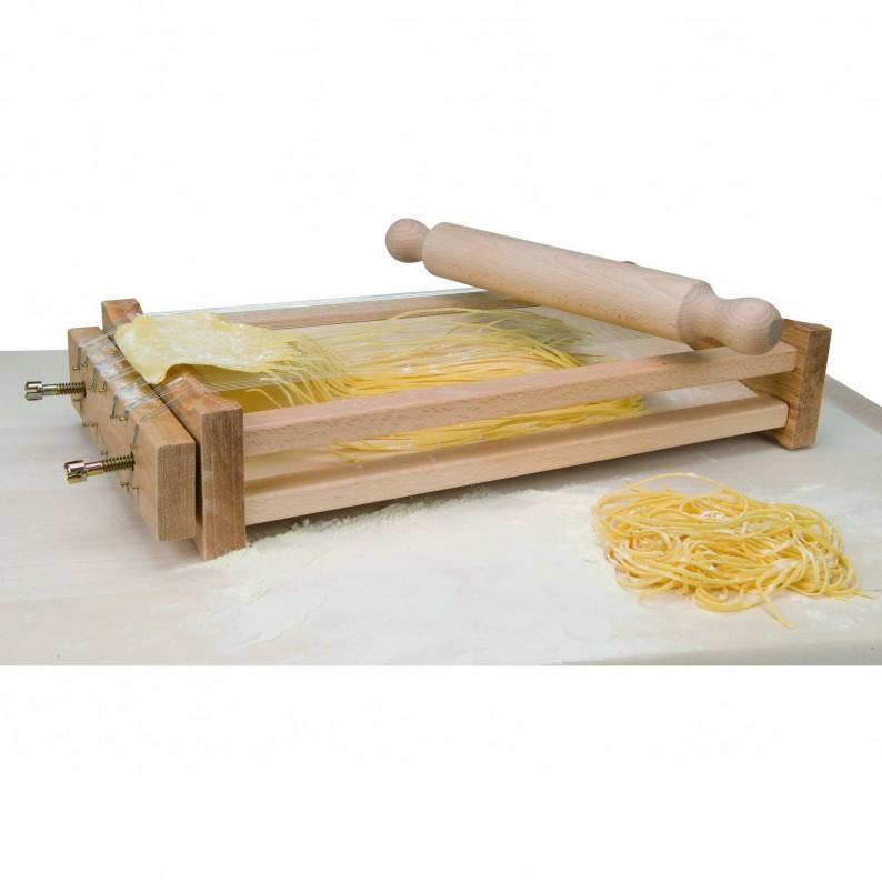Chitarra in legno con fili in acciaio inox per pasta
