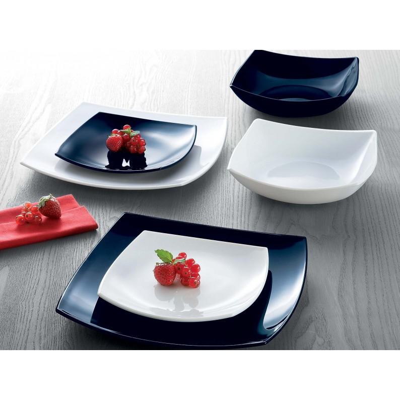 Servizio piatti tavola moderno Luminarc Quadrato 18 pz