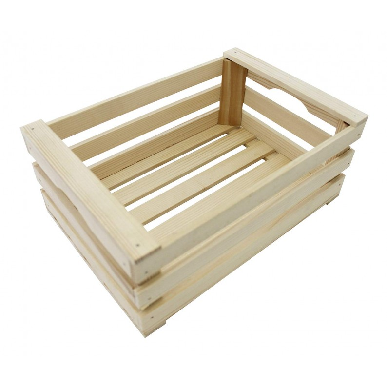 Cassetta in legno di abete per confezioni cesti cm 25x17x10 h