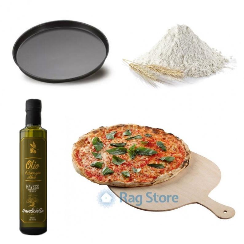 kit base per pizza alla teglia fatta in casa