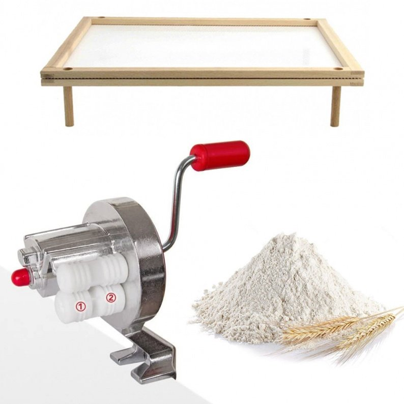 Kit macchina per cavatelli con essiccatore e farina bio
