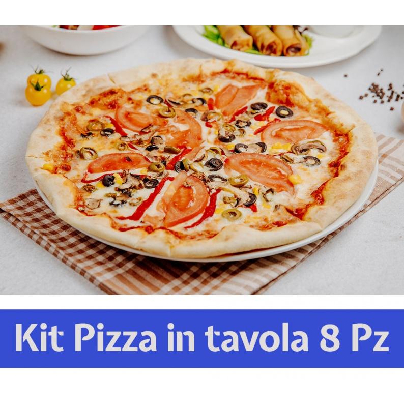 Kit piatti per pizza con paletta e rotella