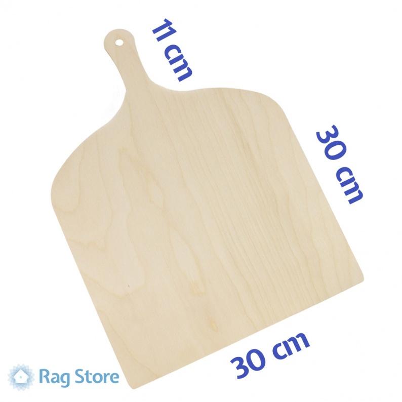 Pala prepara servi pizza realizzata in legno di betulla cm 30x30