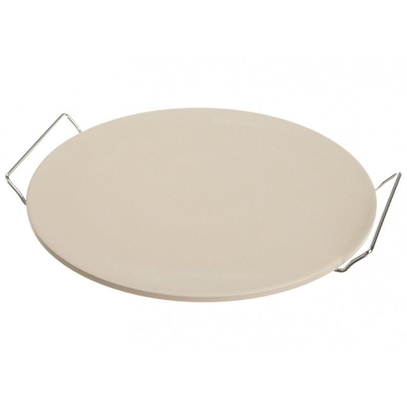 Pietra rotonda per cottura pizza completa di supporto