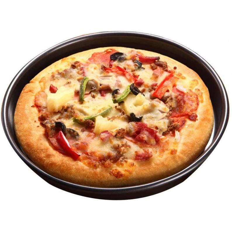 Teglia antiaderente per cottura pizza tonda da 32 cm