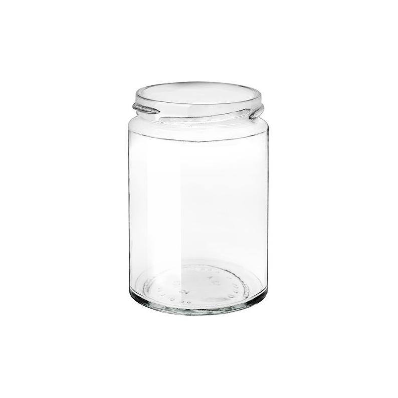 Barattolo in vetro cilindrico modello Minimal da 370 ml