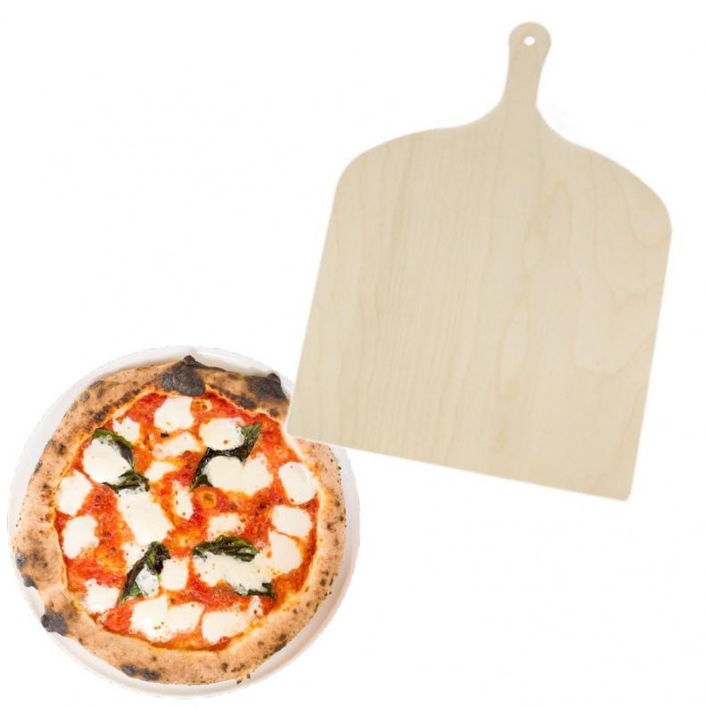 Paletta in legno xl per pizza gigante cm 37x37