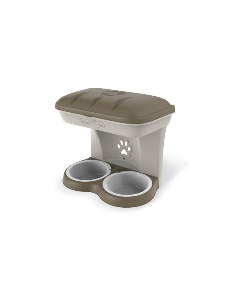 Ciotola per cane porta cibo a parete Bama
