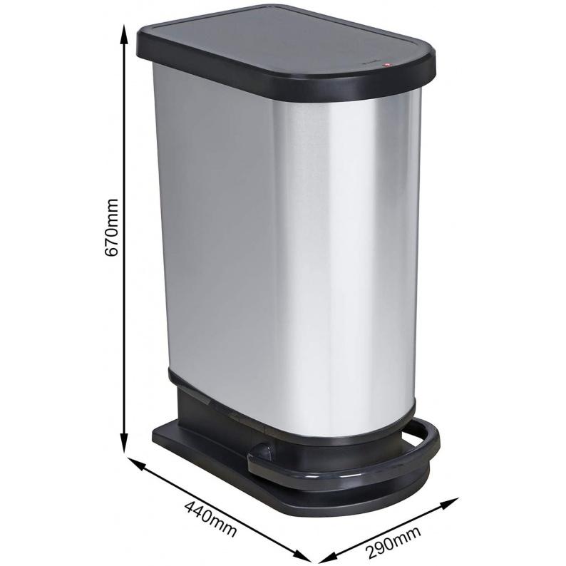 Dimensioni secchio per rifiuti Rotho Paso 50 litri