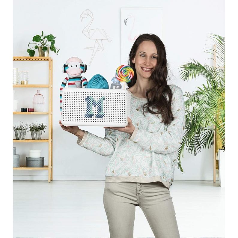 Scatola Madei Rotho con disegno in cotone