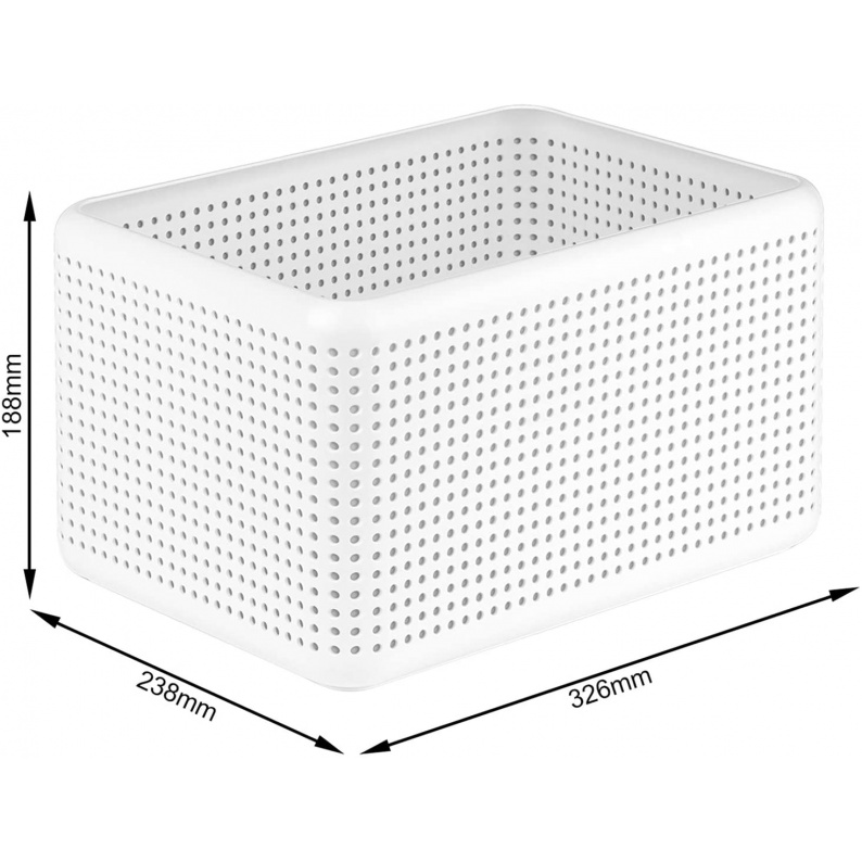 Dimensioni cassetta porta oggetti Madei 13 lt Rotho