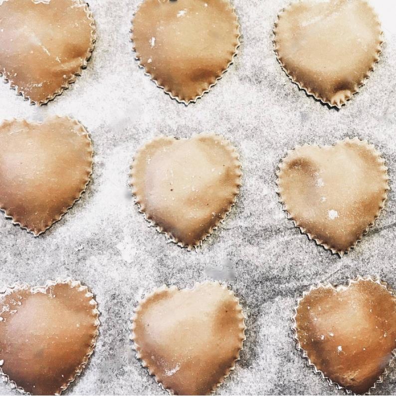 Come fare i Ravioli di pasta a cuore per san valentino