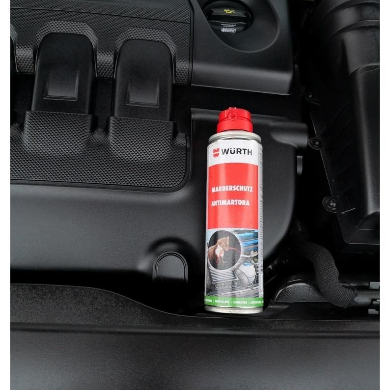 Trattamento repellente per topi e martori nel vano motore auto