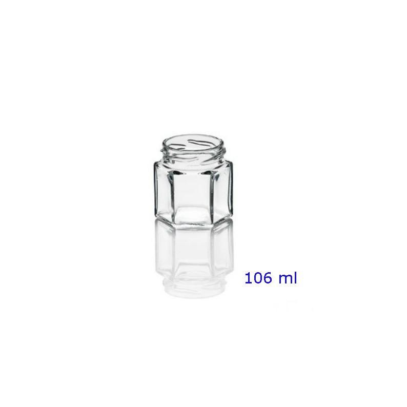 Barattolo in vetro esagonale da 106 ml