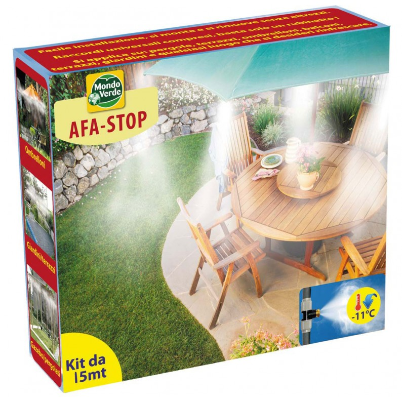 Afa stop 15 metri kit completo per nebulizzazione