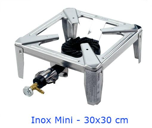 FORNELLONE OMAC MINI DRAGO INOX CM 30x30