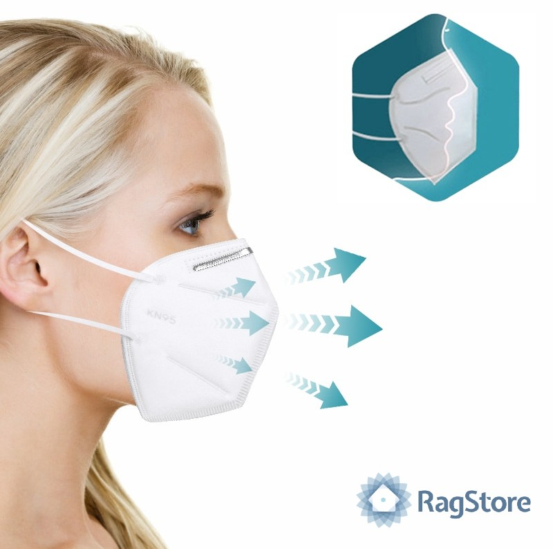 Forma anatomica mascherina protettiva FFP2 KN95 certificata